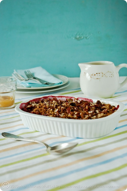 Honeyed Ginger Plum Crumble (0001) by Meeta K. Wolff