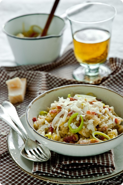 Riesling Risotto with Leek and Bacon (0022) by Meeta K. Wolff