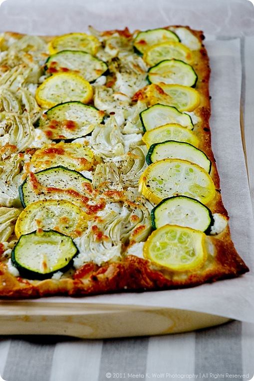 Zucchini Fennel Goat Cheese Tarte Flmabee (01) by Meeta K. Wolff