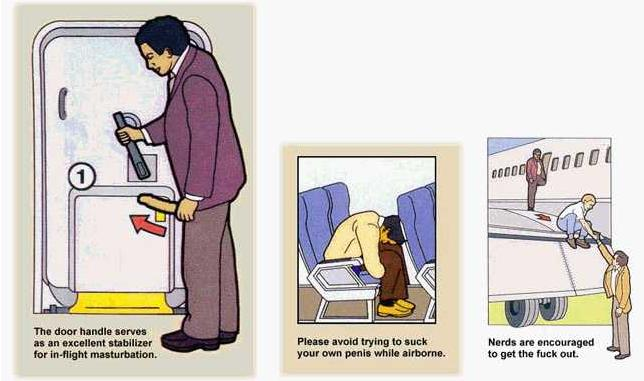 Safety Instructions Airplane Funny