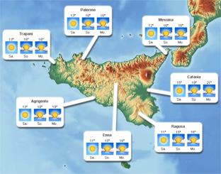 Sizilien - Wetter und Klima auf einen Blick
