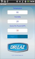 Screenshot of Dri-Eaz GPP Calculator