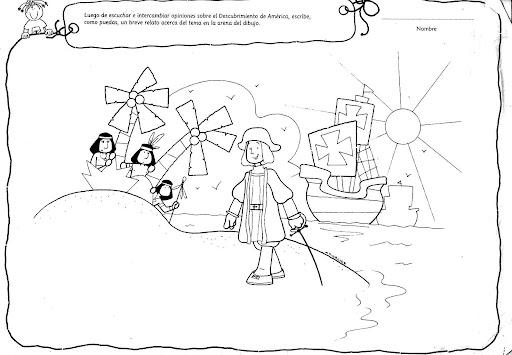 u0026gt dibujos para colorear sobre historia  cristobal colon