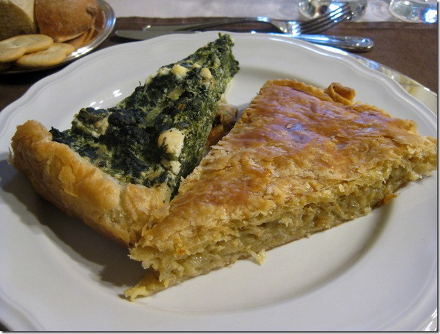 spinach and onion torte