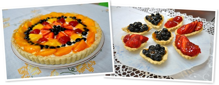 View fruit tarts