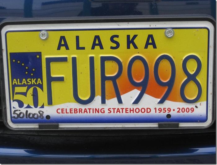 Alaskan license plate