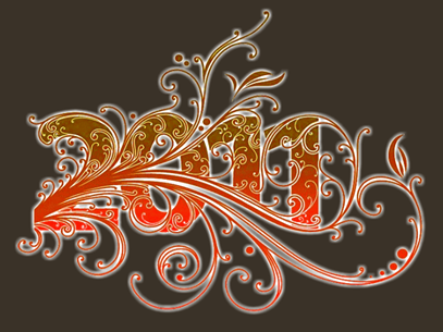 2011 swirls orange
