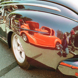 Classic reflection, classic mirror by Cory Bohnenkamp - Transportation Automobiles