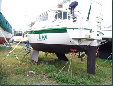 neat sailboat at Indiantown Marina