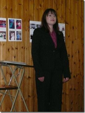 Ольга готовится к выступлению