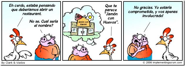 La historia de la gallina y el cerdo