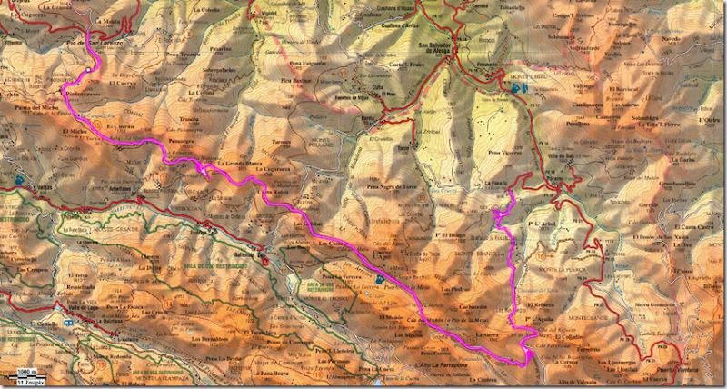 Mapa San Lorenzo-Focella