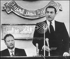 Mubarak in 1981
