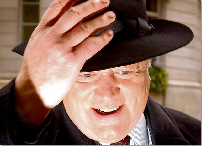 This isn'tme. It's Ken Clarke wearing a hat looking like Joss Ackland in the Always on my mind video