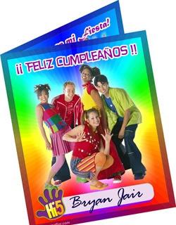Tarjeta de Cumpleaños de Hi5 | Invitaciones Fiesta Infantil para Imprimir