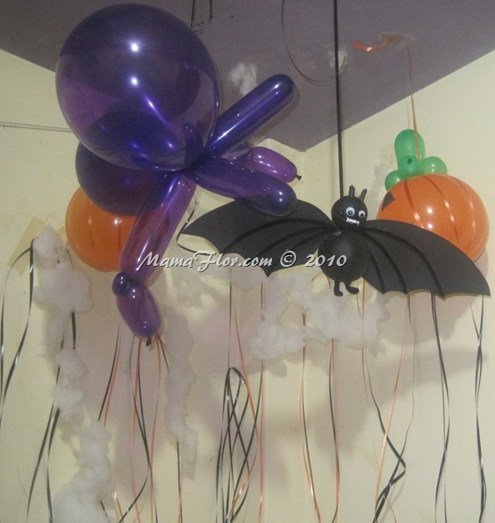 Decoraci n para tu fiesta de halloween con globos for Articulos decoracion halloween