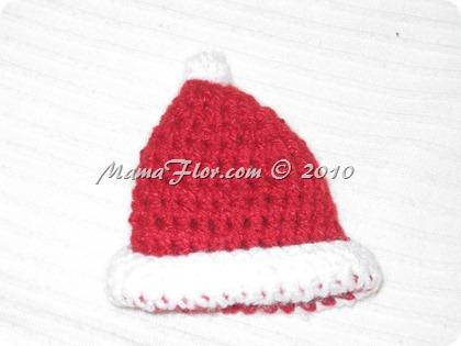 Gorro de Papá Noel tejido a Crochet