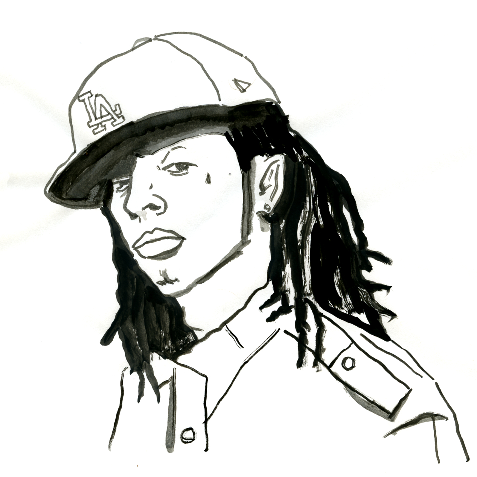 Free Lil Wayne Drawings Coloring Pages Lil Wayne Coloring Pages