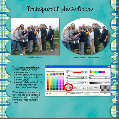 Transparent photo frame - Page 032
