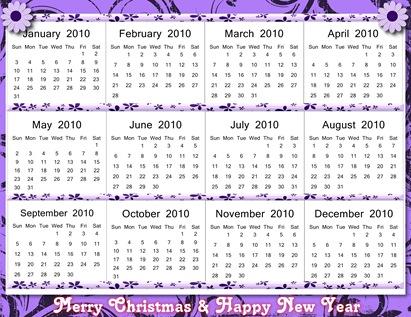 2010 Calendar - Page 001