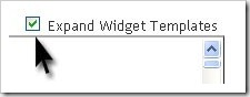 Expand Widget Template