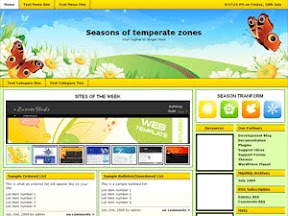 Seasons Of Temperate Zones