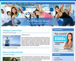 Fitness WordPress Theme One