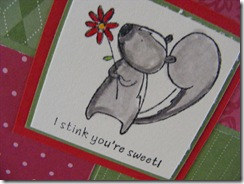 card for Rachel close up