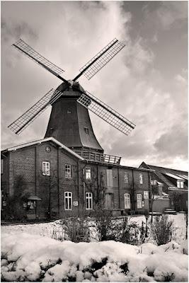 Mühle von Rönn im Schnee