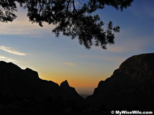 Romantic sight of sunset at Big Bend