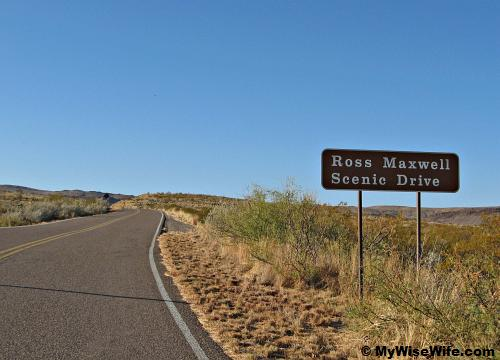 Welcome to Ross Maxwell Scenic Drive