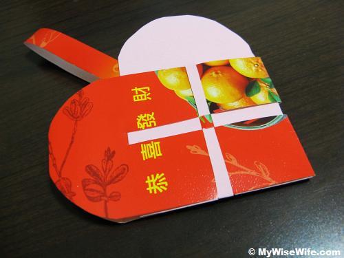Paper woven basket - Chinese New Year cum Valentine's