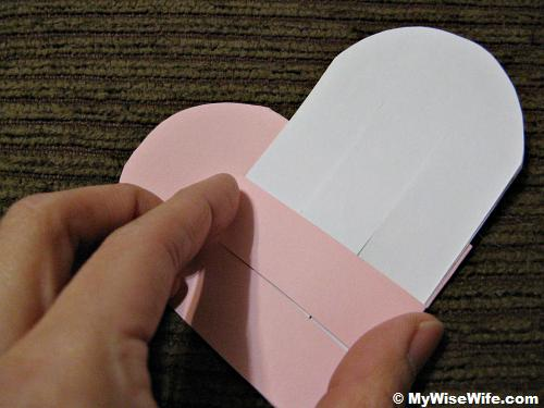 The strip cut must allow the width of another paper