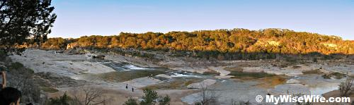 Poor man's landscape stitches - Pedernales Falls (Johnson City)