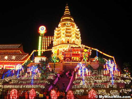 Garden of the lights at Kek Lok Si Pagoda in Ayer Itam, Penang