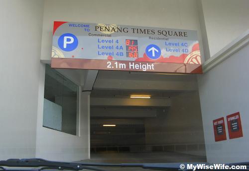 Parking lot counter - a plus point!