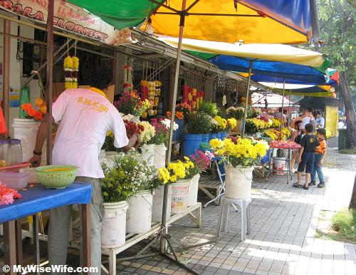 Flower stall along Pitt Street always there whether rain or shine