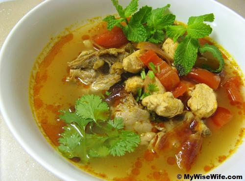 A bowl of mouth watering Tom Yum soup