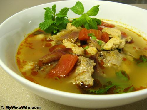 Chicken Tomyam Soup (Tomyam Gai)