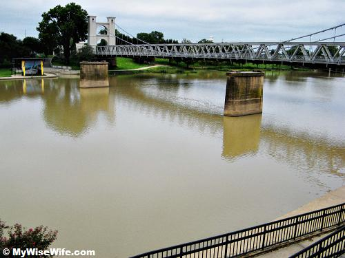The calm Brazos River today