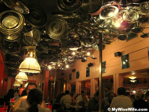 Interesting ceiling decoration