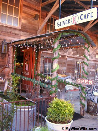 Silver K Cafe is tucked in a strip of rustic building