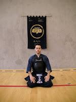 Romaniga DIAS, one of the senseis (teachers) of the Shobukai Kendo Club.