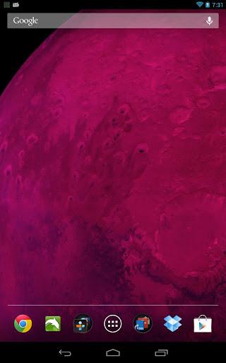 Space Live Wallpaper Pro - screenshot