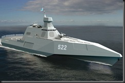 Similar to the U.S. LCS-2 Independence of the three-body ship design