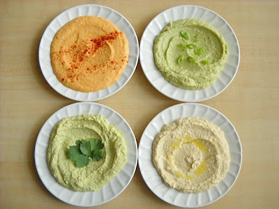 Four Flavors of Hummus