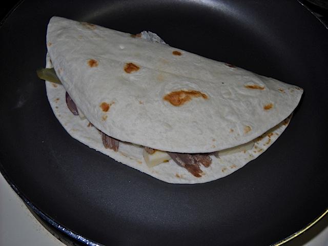 cook quesadilla
