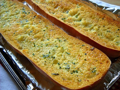 baked garlic bread