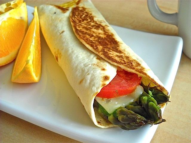 Asparagus Breakfast Wrap