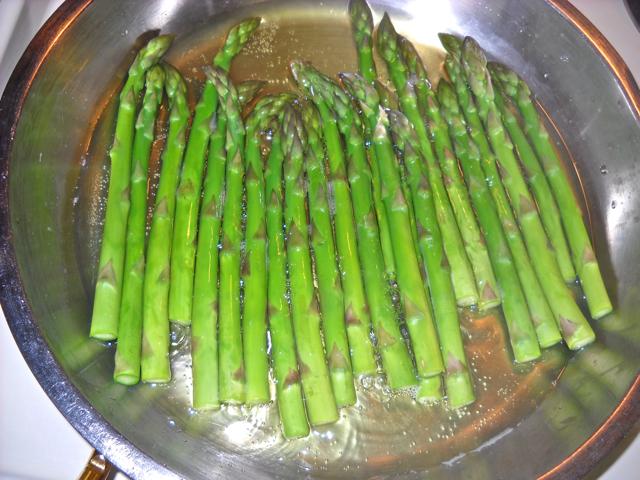 simmer asparagus